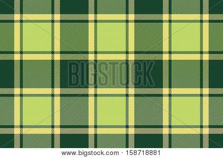 Green tartan plaid seamless texture. Vector illustration. Flat design. No gradient. No transparent. EPS 10.
