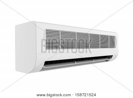 Air Conditioner isolated on white background. 3D render