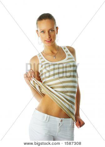 Young Fashion Girl Posing