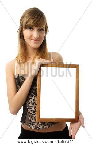 Menina com Frame