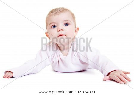 Portrait Of A Cute Baby Girl
