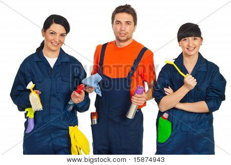 Team Of Cleaning Workers