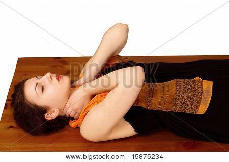 Reiki energy neck position