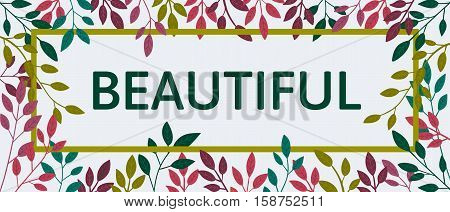 Vector colorful autumn quote in square frame. Autumn banner, poster. Slogan.  Beautiful billboard. T-shirt design. Black background.