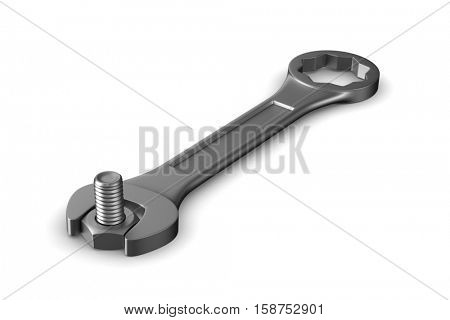 Service works on white background. Isolated 3D image