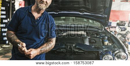 Auto Repair Shop Mechanic Technician Concept