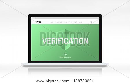 Security Privacy Web Page Concept