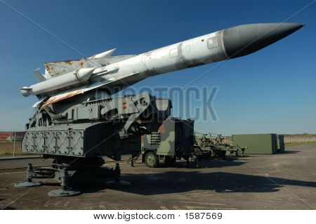 Missile Pointing To The Sky