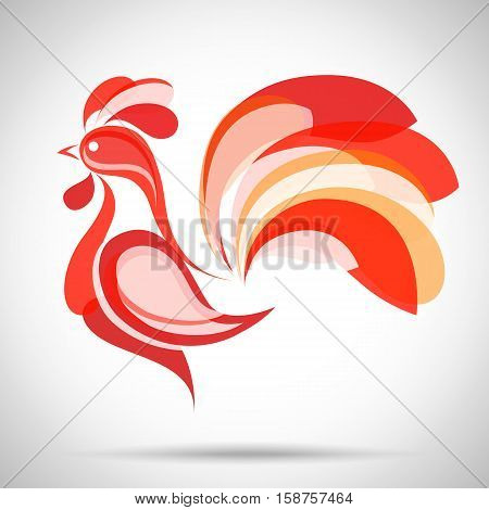 Vector Rooster. China New Year Greeting Card for your design