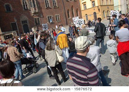 protestieren Sie gegen Gewalt in Polen