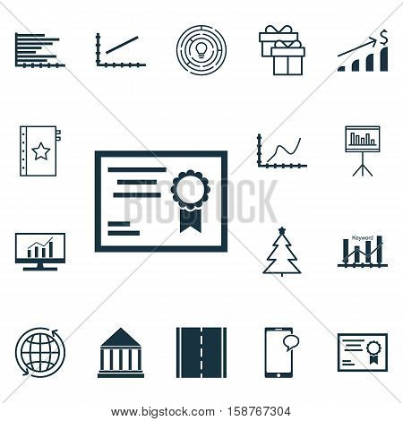 Set Of 16 Universal Editable Icons. Can Be Used For Web, Mobile And App Design. Includes Icons Such As Market Research, Achievement Graph, Innovation And More.