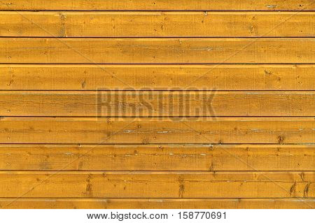 Yellow Rural Wooden Wall, Close-up Background