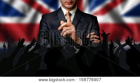 British Candidate Speaks To The People Crowd
