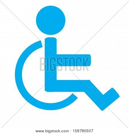 Disabled sign icon.Invalid icon.Human on wheelchair. Invalid sign.