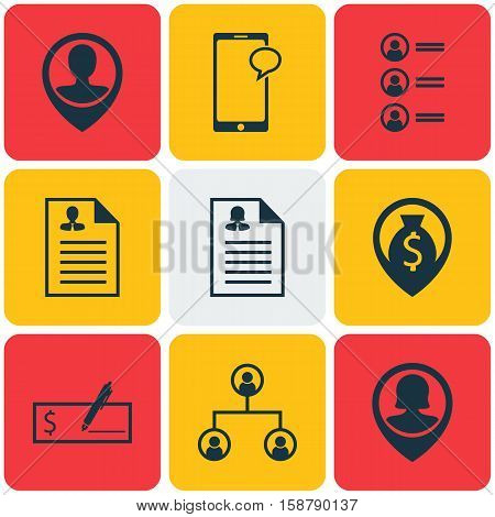 Set Of Management Icons On Job Applicants, Pin Employee And Female Application Topics. Editable Vector Illustration. Includes Male, Chat, Structure And More Vector Icons.