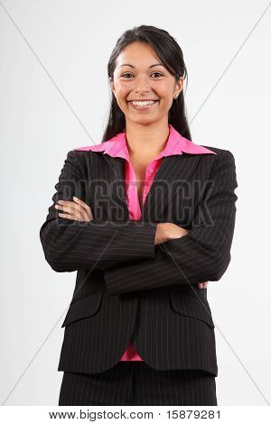 Business woman wearing suit