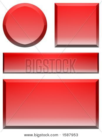 Large Blank Web Buttons