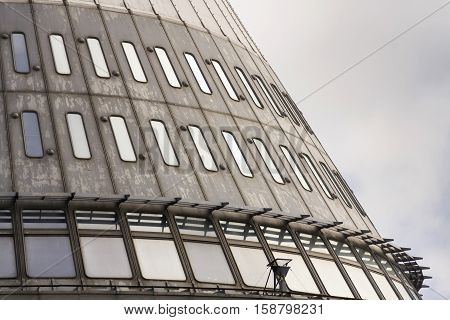 Detail Of Telecommunication Transmitters Tower On Jested, Liberec, Czech Republic