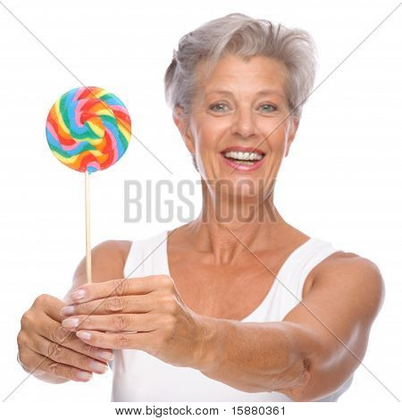 Senior Woman With Sweets