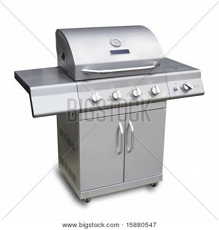 Barbecue gass grill, isolated