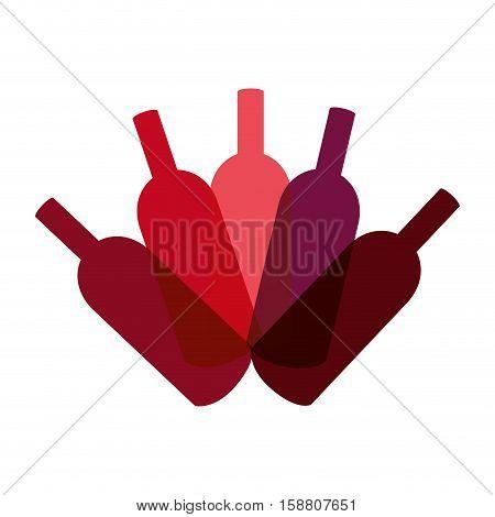 delicious wine bottle drink vector illustration design