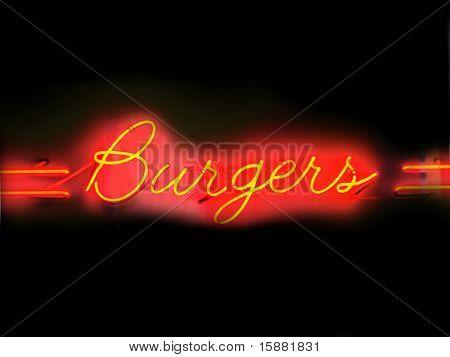 hamburgers neon teken