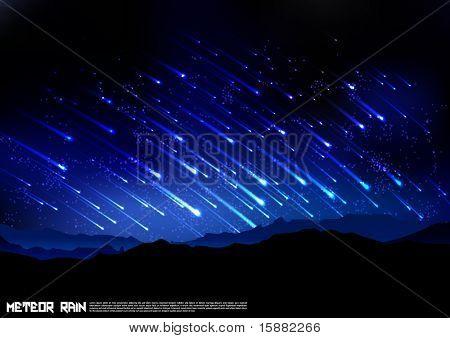 Vector Meteors Rain