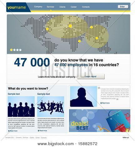 business web site design template - vector illustration