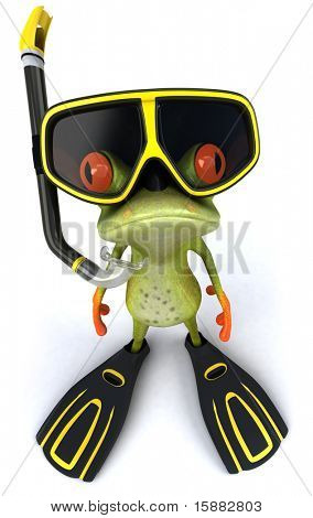 Frog and scuba