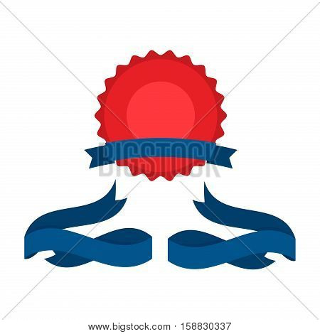 Fourth Of July Ribbons Shields Labels And Banners. Collection of July fourth ribbons shield and other badges with banners labels ribbons for fourth of july holidays patriotic red and blue event.