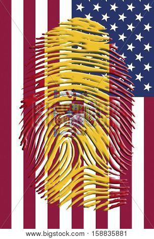 Spain USA Identity   3D Render