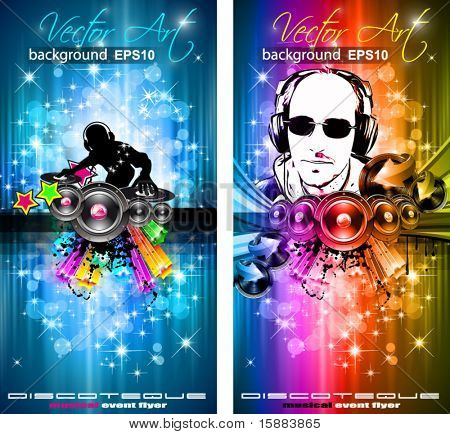 Magia luces Disco Volante con forma de DJ y un montón de estrellas