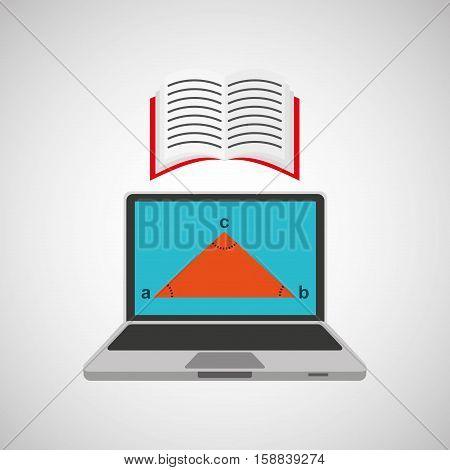 learn online school geometry book vector illustration eps 10