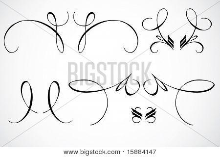Vector Swirl Ornaments