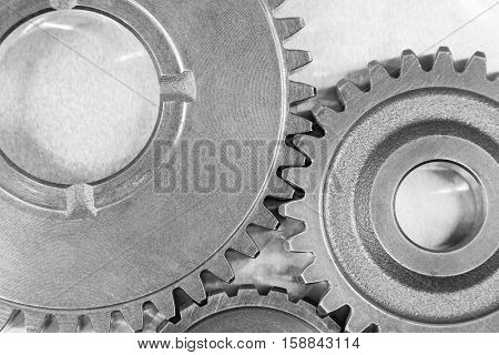 Metal cog gears joining together