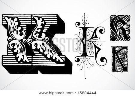 Vector Letter K - Set 1