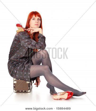 Travel Woman Waiting