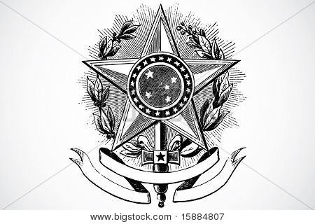 Vector Star and Banner Ornament