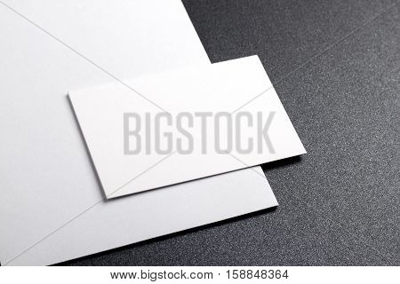 Photo of business cards. Template for branding identity. For graphic designers presentations and portfolios. Business Card business business card mock-up mock up mockup