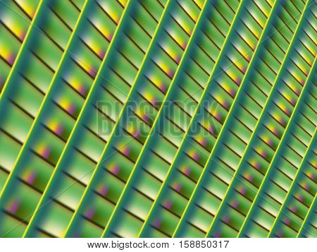 A geometric fractal background with boxes in rows in green yellow and pink with a 3d effect. Suitable for layouts web design skins leaflets book covers background for desktop or mobile phone.