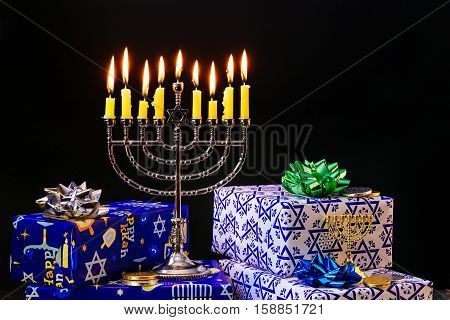 Lighting Hanukkah Candles  Celebration