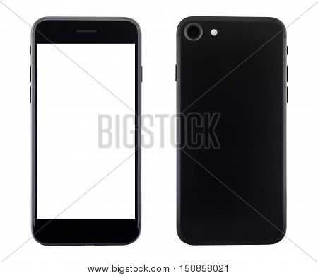 phone front and backside view isolated on white background