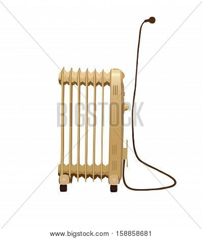 Heater isolated on white background. Eps 8.