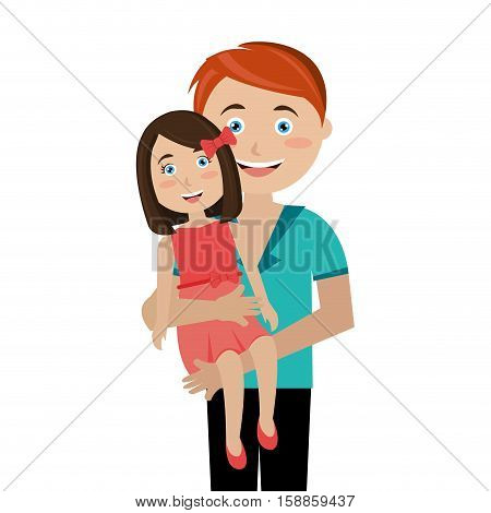 happy family member character vector illustration design