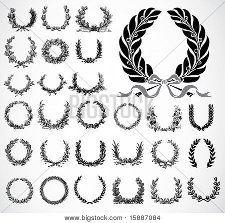 Vector Ornate Wreath Set
