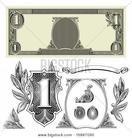 Vector Certificate and Money Ornaments
