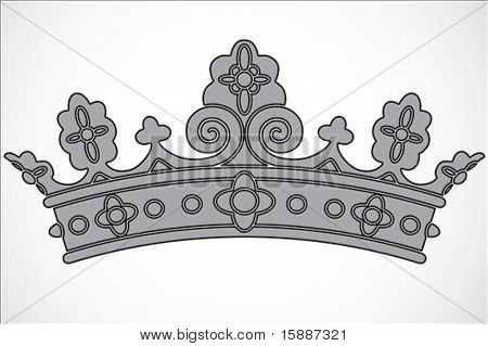 Iconic crown illustration. Easy to scale to any size.