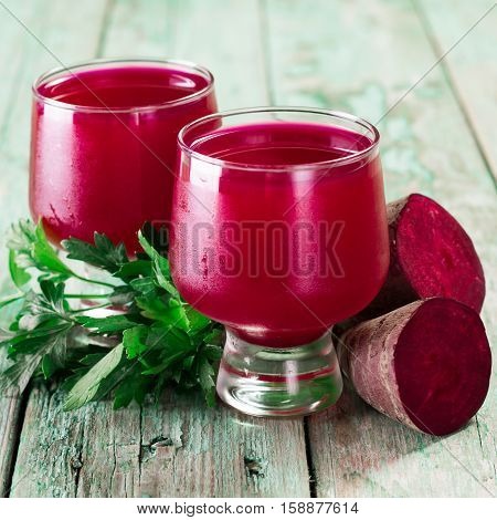 Beetroot Juice In A Large Glass, Fresh Beets , Healthy Food