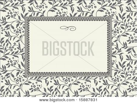 Seamless pattern and decorative frame. Pattern is included as a seamless swatch.