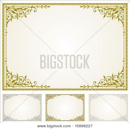 Decorative frame. Perfect for 5x7 invitations or announcements